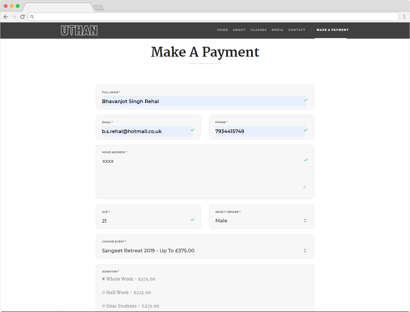 Uthan - How To Pay